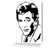 Peter Falk Columbo Greeting Card