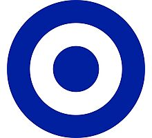 Roundel of the Air Force of El Salvador  Photographic Print