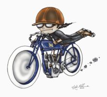 MOTORCYCLE EXCELSIOR STYLE (BLUE BIKE) by squigglemonkey