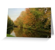 Autumn colours in reflection Greeting Card