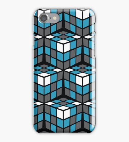 cascade - grey/blue/white iPhone Case/Skin
