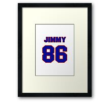 National football player Jimmy Childs jersey 86 Framed Print