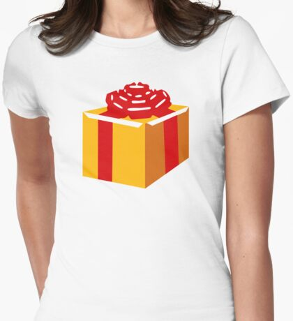 Present gift box Womens Fitted T-Shirt