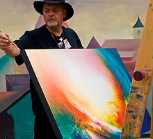 painter and his painting by Željko Malagurski