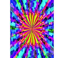 Pipe Dream #1 by CAP - Colorful Moving Optical Illusion Psychedelic Design Photographic Print