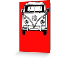 Volkswagen VW Bus Van Greeting Card
