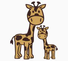 Comic Giraffe family Kids Clothes