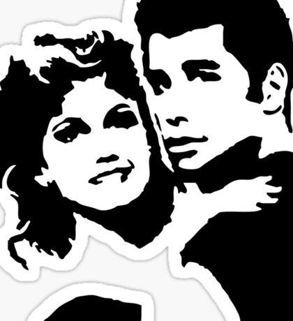 John Travolta Grease Sticker
