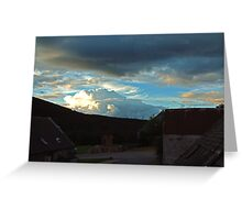Storm clouds gathering over Speyside Greeting Card