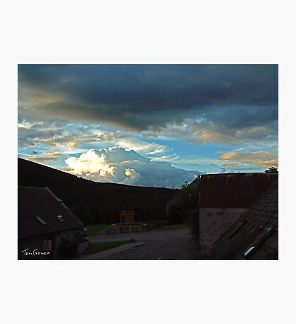 Storm clouds gathering over Speyside Photographic Print