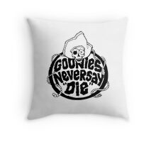 Goonies Never Say Die T-Shirt Throw Pillow