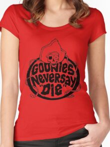 Goonies Never Say Die T-Shirt Women's Fitted Scoop T-Shirt