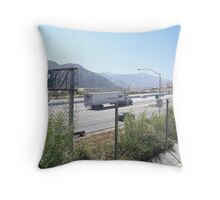 The I-15 Palmdale Sign Throw Pillow