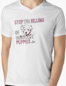 Stop the Killing of Innocent Puppies Mens V-Neck T-Shirt