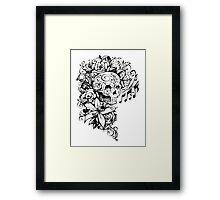 Singing Sugar Skull  Framed Print