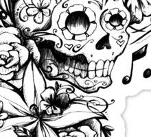 Singing Sugar Skull  Sticker