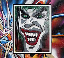 Jolly Joker Street Art by janewiebenga