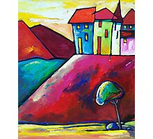 VILLAGE  ON  THE  HILL Photographic Print