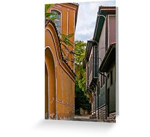 Traditional Houses in Old Plovdiv, Bulgaria Greeting Card