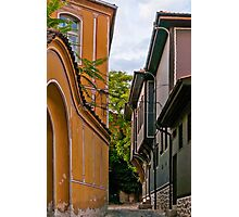 Traditional Houses in Old Plovdiv, Bulgaria Photographic Print