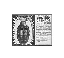 EXPLODING ARMY HAND GRENADE Photographic Print