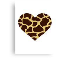 Giraffe heart Canvas Print