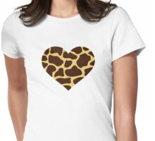 Giraffe heart Womens Fitted T-Shirt