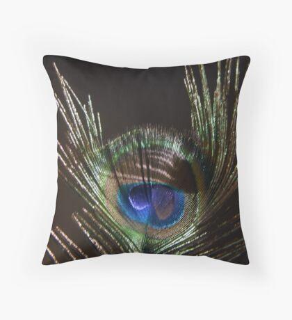 The Peacock Dude! Throw Pillow