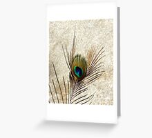 The Peacock Dude! #3 Greeting Card