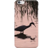LITTLE BLUE HERON SILHOUETTE iPhone Case/Skin