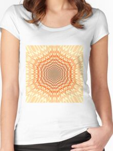 Abstract / Psychedelic / Geometric Artwork Women's Fitted Scoop T-Shirt