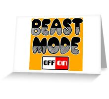 BEAST MODE Funny Geek Nerd Greeting Card