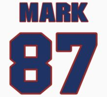 National football player Mark Bellini jersey 87 by imsport