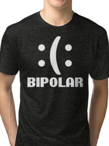 Bipolar Emoticon Funny Geek Nerd Tri-blend T-Shirt