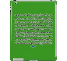 Clark gxmas quote Funny Geek Nerd iPad Case/Skin
