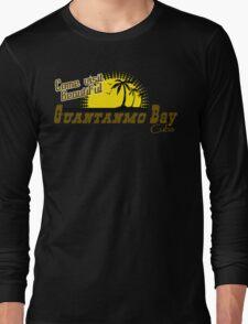 COME VISIT BEAUTIFUL GUANTANAMO BAY CUBA Funny Geek Nerd Long Sleeve T-Shirt