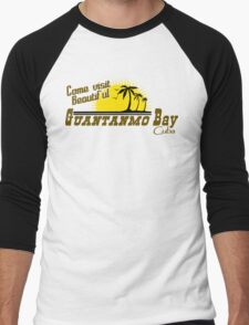 COME VISIT BEAUTIFUL GUANTANAMO BAY CUBA Funny Geek Nerd Men's Baseball ¾ T-Shirt