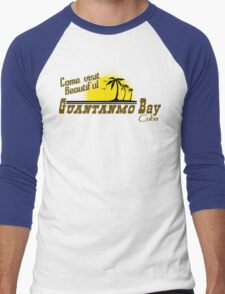 COME VISIT BEAUTIFUL GUANTANAMO BAY CUBA Funny Geek Nerd Men's Baseball ¾ T-Shirt