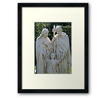 Mary, Joseph and Jesus Framed Print