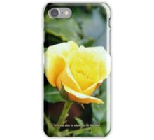 Love me also in silence with thy soul. iPhone Case/Skin