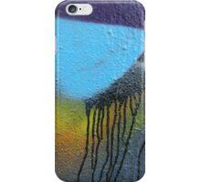 Purple blue paint drips splatter iPhone Case/Skin