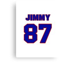 National football player Jimmy Redmond jersey 87 Canvas Print