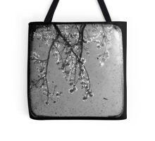 Blossoms in Black & White - Through The Viewfinder Tote Bag