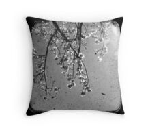 Blossoms in Black & White - Through The Viewfinder Throw Pillow