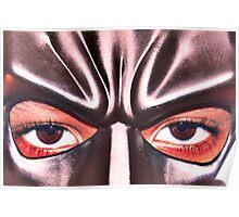 Bat Man's eyes Poster