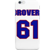 National baseball player Grover Hartley jersey 61 iPhone Case/Skin