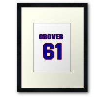 National baseball player Grover Hartley jersey 61 Framed Print