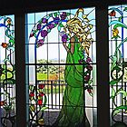 Lady on a Stained Glass Window by Marilyn Harris