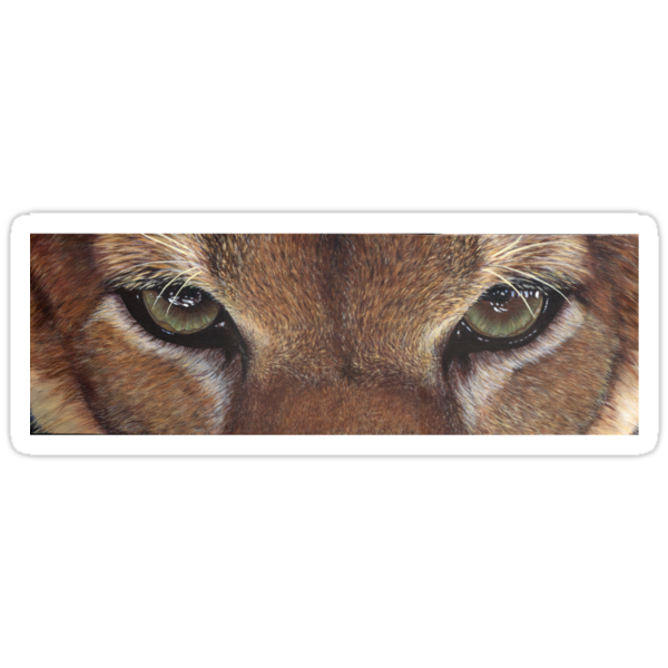 Cougar Eyes T-shirt by artbyakiko