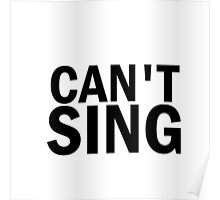 Glee: Can't Sing Poster